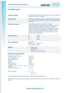 technické listy materiálů albromed